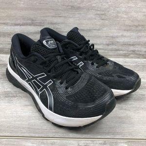 ASICS black cross training tennis shoe
